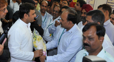 Honorable CM Akhilesh Yadav visits Kalco Stall